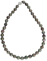 Mikimoto 18K White Gold Tahitian Black South Sea Pearl Necklace