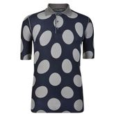Dolce And Gabbana Contrasting Polka Dot Polo Shirt