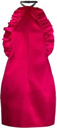 Philosophy di Lorenzo Serafini satin halterneck dress