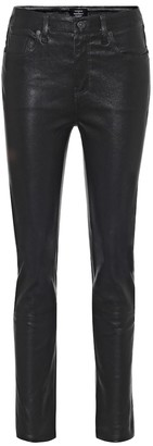 Harlow high-rise skinny leather pants