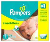 Pampers SwaddlersTM 216-Count Size 1 Disposable Diapers