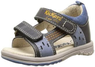 Kickers Unisex Babies PLAZABI Walking Baby Shoes Blue Size: 2.5 Child UK