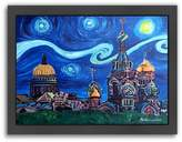 """Americanflat """"Starry Night In St. Petersburg Russia"""" Framed Wall Art"""