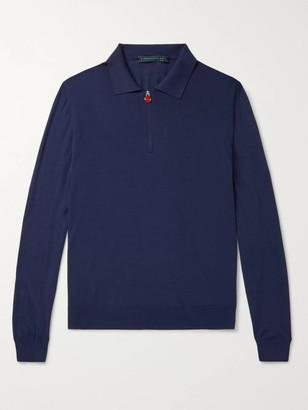 Kiton Wool Half-Zip Sweater
