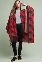 Anthropologie Checked Cashmere Kimono