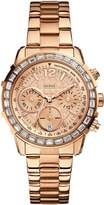 GUESS GUESS? Women's U0016L5 Rose-Gold Stainless-Steel Quartz Watch with Rose-Gold Dial