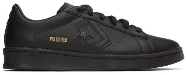 Black Leather Converse Low   Shop the