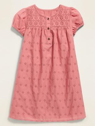Old Navy Embroidered Eyelet Swing Dress for Toddler Girls