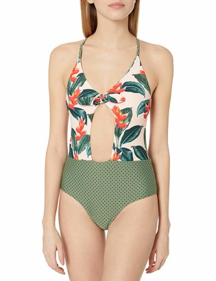 Body Glove Women's Aura One Piece Swimsuit with Front Knot Detail