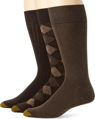 Gold Toe Men's Classic Argyle Sock 3 Pack
