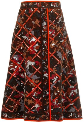 Emilio Pucci Pre Owned paisley print A-line skirt