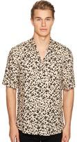 McQ by Alexander McQueen Short Sleeve Leopard Sheehan Shirt Men's Clothing