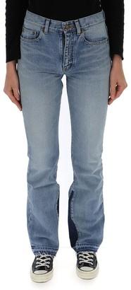 Saint Laurent Flared Contrast Jeans