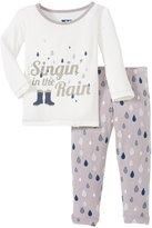 Kickee Pants Print Pajama Set (Baby) - Feather Rain Drops-3-6M