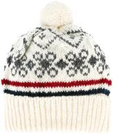 Thom Browne intarsia pompom beanie hat