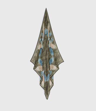 AllSaints Swoop Square Scarf
