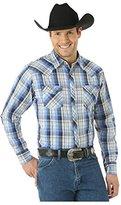 Wrangler Men's Big and Tall Long Sleeve Western Fashion Snap Shirt