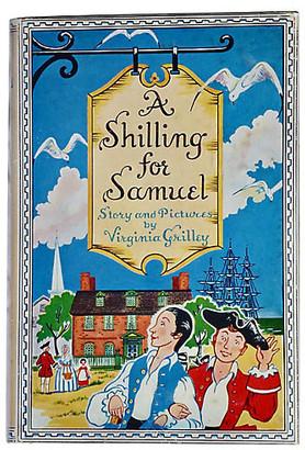 One Kings Lane Vintage A Shilling For Samuel - 1st - 1957 - blue/multi