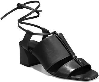 Vince Dunaway Leather Ankle-Tie Sandals