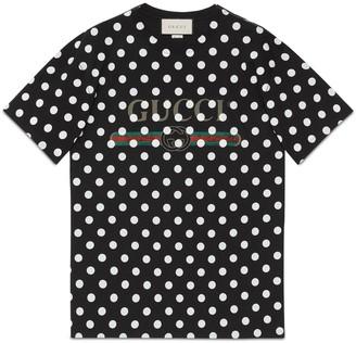Gucci disk print oversize T-shirt