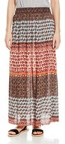 Angie Women's Coral Smocked Waist Maxi Skirt