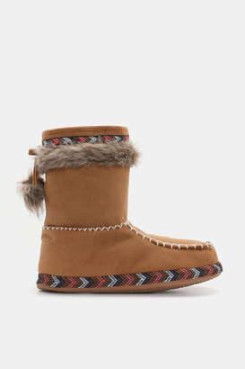 Ardene Moccasin Boot Slippers