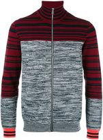 Paul Smith colour block zip up cardigan
