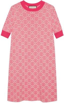 Gucci GG cotton wool piquet short dress