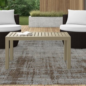 Melissus Plastic/Resin Coffee Table Mercury Row Color: Dove Gray