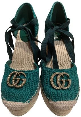 Gucci Green Cloth Espadrilles