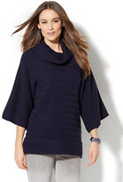 New York & Co. Open-Stitch Cowl-Neck Sweater