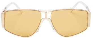 Givenchy Angular Acetate And Metal Sunglasses - Womens - Gold