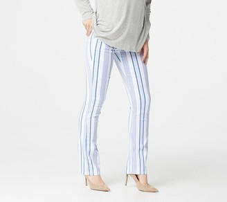 Laurie Felt Power Silky Denim Striped Baby Bell Pull-On Jeans