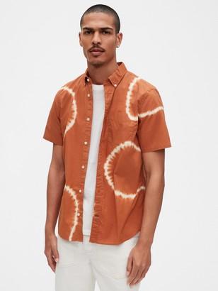 Gap Lived-In Short Sleeve Poplin Shirt