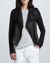 Vince Mix-Fabric Asymmetric Jacket