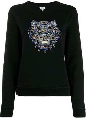 Kenzo Tiger hand-embroidered sweatshirt