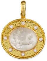 Elizabeth Locke Crystal Goddess Chariot Pendant
