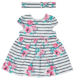 George Striped Floral Dress with Headband