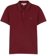 Mcq Alexander Mcqueen Burgundy Piqué Cotton Polo Shirt