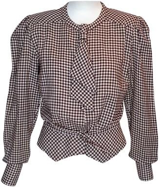 Emmanuelle Khanh Brown Wool Top for Women Vintage