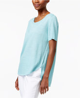 Eileen Fisher Linen Scoop-Neck Sweater