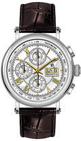 Dreyfuss & Co Valjoux Automatic Chronograph Leather Strap Watch