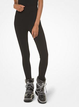 Michael Kors Logo Stirrup Stretch-Viscose Leggings