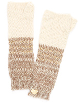 Betsey Johnson Taupe Unchained Fingerless Gloves