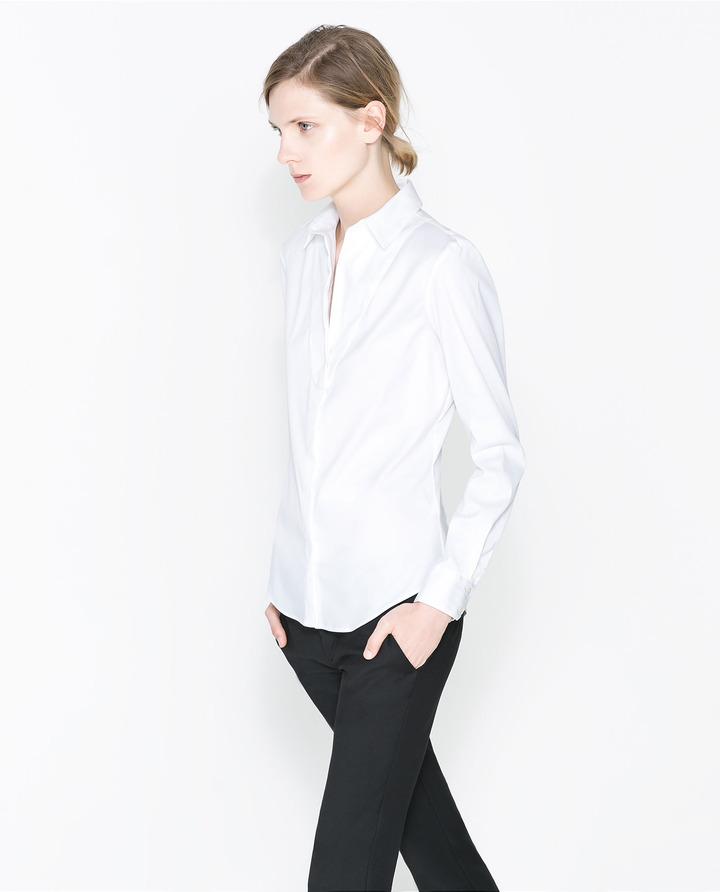 Zara Bib Front Shirt