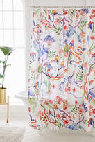 Urban Outfitters Whimsical Floral Shower Curtain