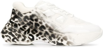 Pinko Rubino leopard-print chunky sneakers