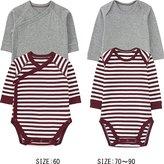 Uniqlo Baby Crewneck Long Sleeve Bodysuit 2p