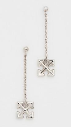 Off-White Pendant Arrow Earrings