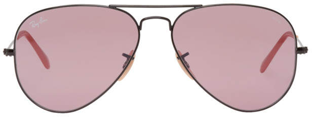 Ray-Ban Black and Pink Pilot Aviator Sunglasses